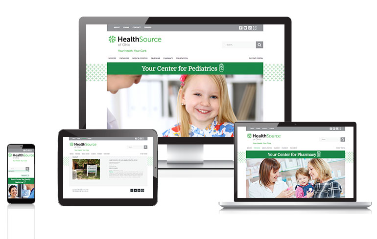 Cincinnati web design for healthcare industry