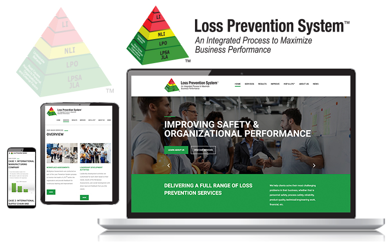 web design and branding for loss prevention industry