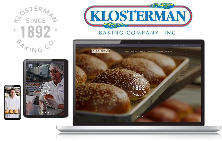 web design for bakery company