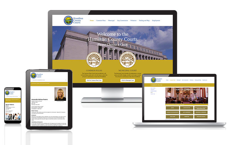 web design for Hamilton County Courts