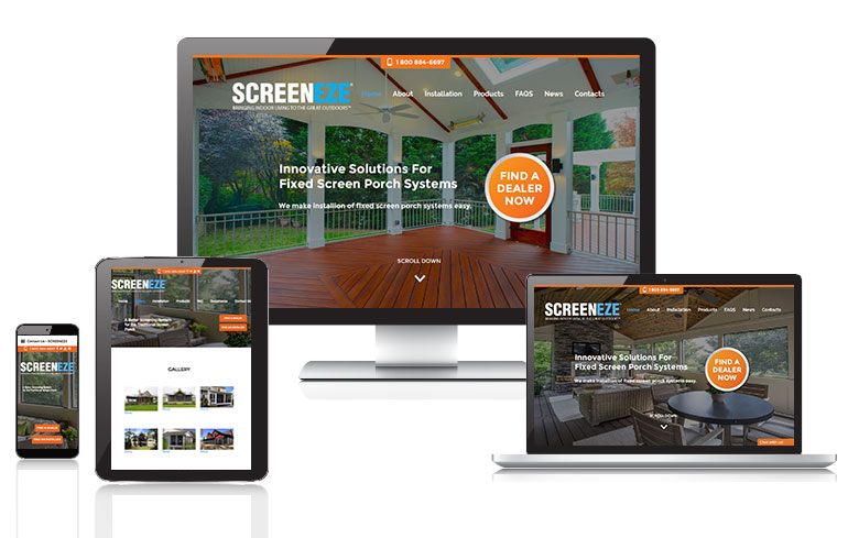 web design for home improvement industry